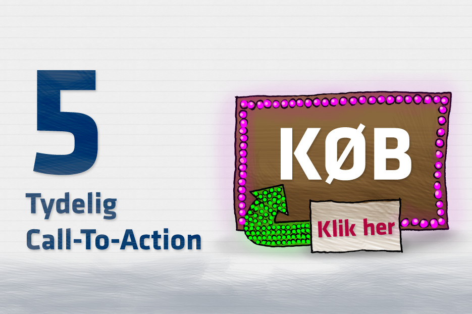 Call-To-Action skal være tydelige på hjemmesiden