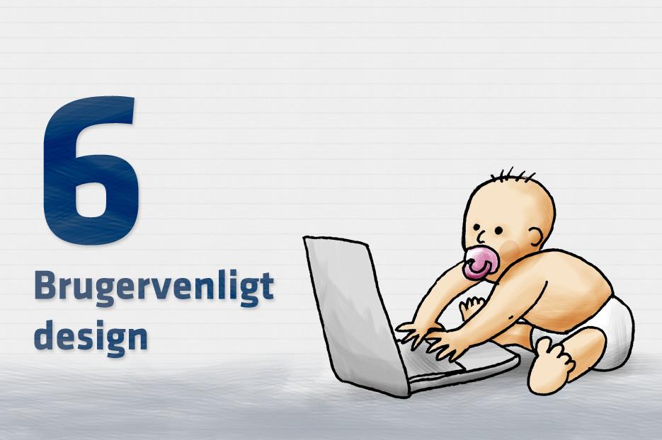 Brugervenligt designpå hjemmesiden