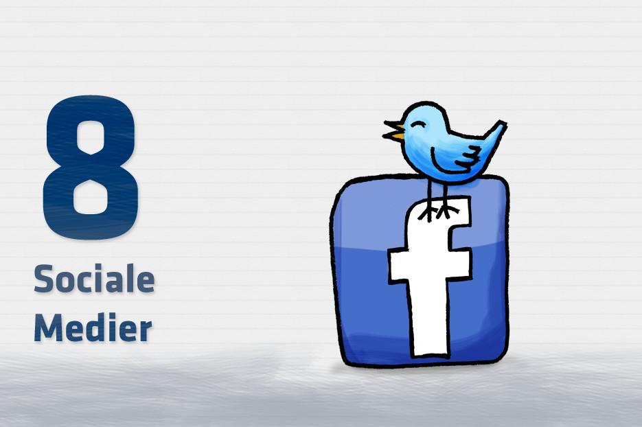 Brug muligheder med sociale media på hjemmesiden