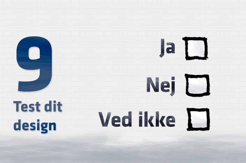Test dit design på hjemmesiden
