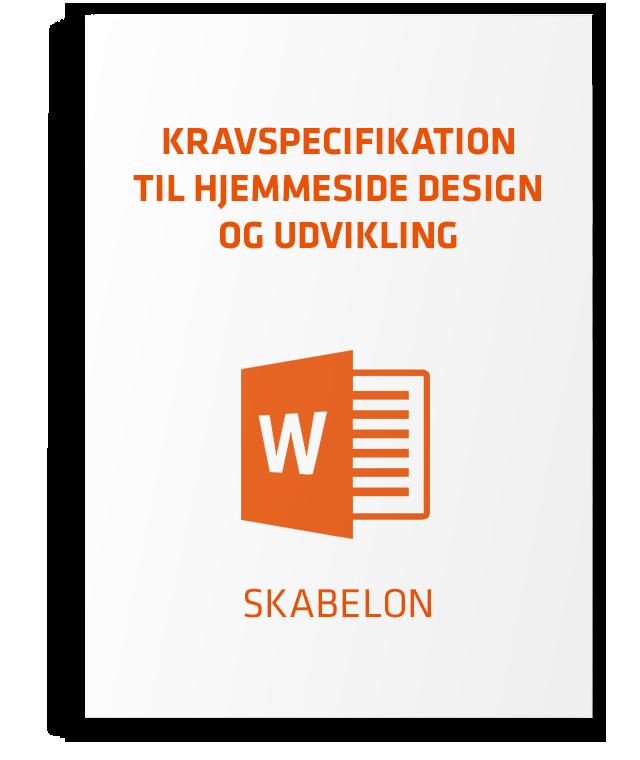 Skabelon til kravspecifikation - design og udvikling af hjemmesider